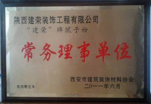 陕西建荣漆常务理事单位